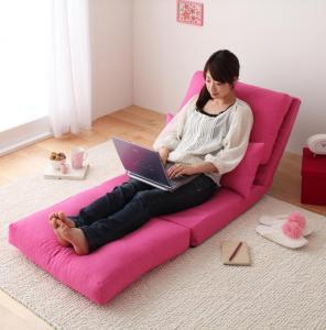 コンパクトフロアリクライニングソファベッド happy ハッピー 幅60cm