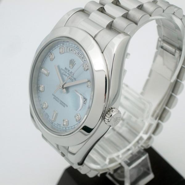 timeless design d9265 f2705 141685【中古】【ROLEX】【ロレックス】デイトジャストII 218206 G番 プラチナ ダイヤインデックス アイスブルー文字盤  自動巻Rolex メンズ時計|一風騎士