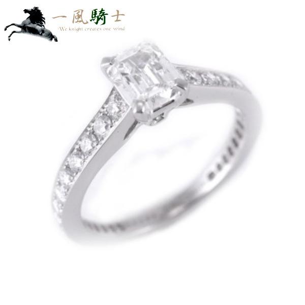 237234【中古】【GRAFF】【グラフ】ダイヤ リング PT950×ダイヤモンド0.54ct #9.59.5号 プラチナ エメラルドカット スクエア 指輪 アクセサリー ブランドジュエリー