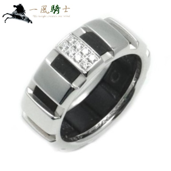 204885【送料無料】【中古】【CHAUMET】【ショーメ】クラスワン リング K18WG×ブラックラバー×ダイヤモンド #51chaumet ホワイトゴールド 750 11号 指輪 アクセサリー ブランドジュエリー