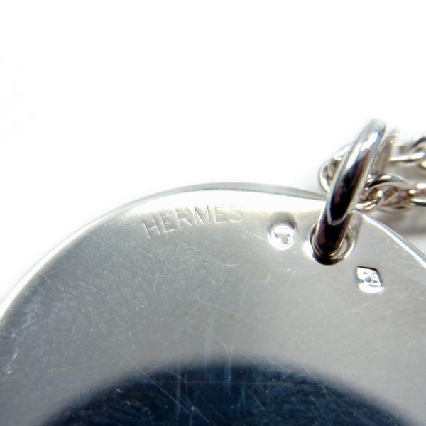 246294 HERMESエルメス ロゴメダル セリエ ネックレスSV925hermes AG925 シルバー シェーヌダンクル ペンダント Hモチーフ アクセサリー ブランドジュエリー5ARj34L