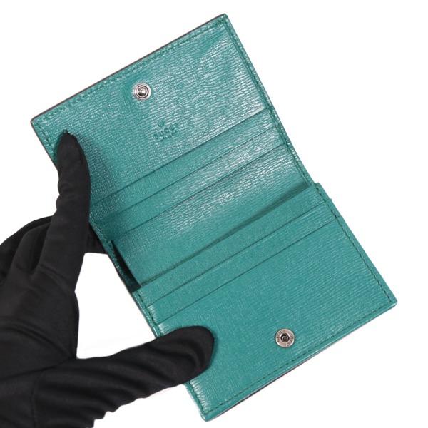 最大5 000円OFFクーポン枚数限定7月30日まで 263501 未使用GUCCIグッチ カードケース カーフ GGブルームス グリーン×フラワープリント 410120 シルバー金具HYW9ED2I