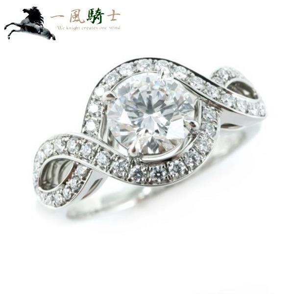 【スーパーSALE商品多数出品中】【6月11日夜1:59 まで】269308【中古】【HARRYWINSTON】【ハリーウィンストン】リリークラスター エンゲージメント リング PT950×ダイヤモンド0.54ct #7HW 7号 プラチナ 指輪 ブランドジュエリー