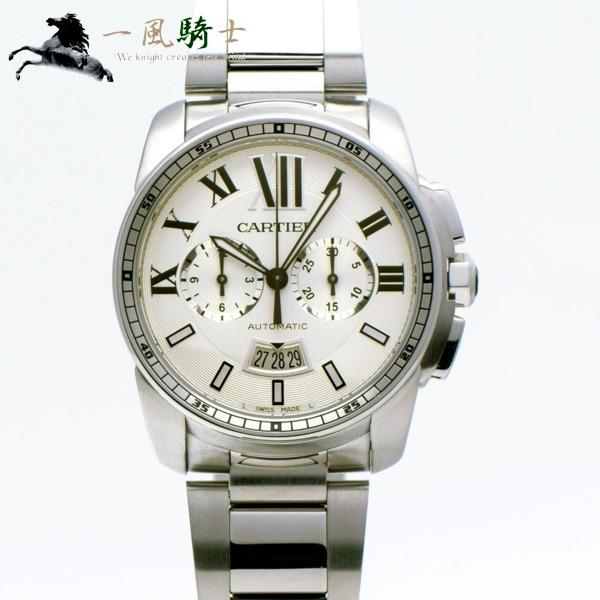 304132【中古】【Cartier】【カルティエ】カリブル ドゥ カルティエ クロノグラフ W7100045