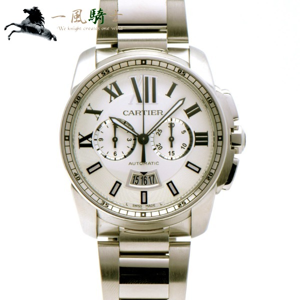 303142【中古】【Cartier】【カルティエ】カリブル ドゥ カルティエ クロノグラフ W7100045