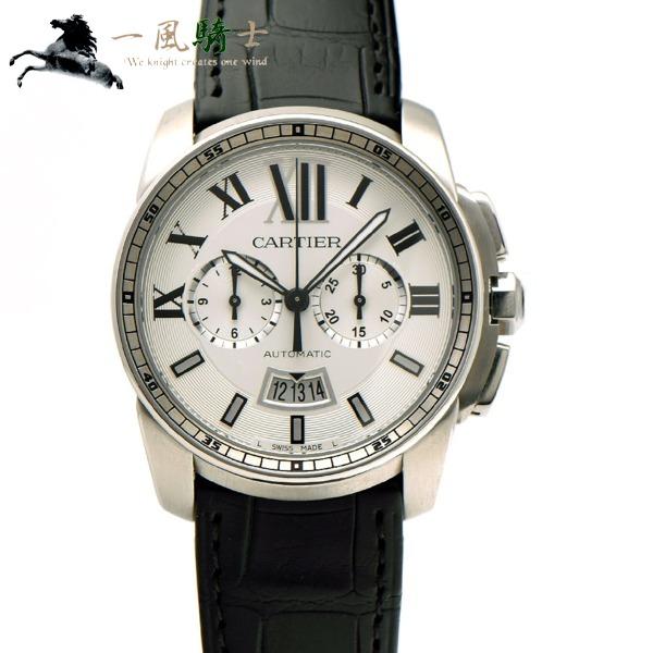 318436【中古】【Cartier】【カルティエ】カリブル ドゥ カルティエ クロノグラフ W7100046