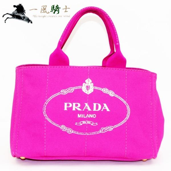 319050【中古】【PRADA】【プラダ】カナパトート キャンバス ピンク BN1877