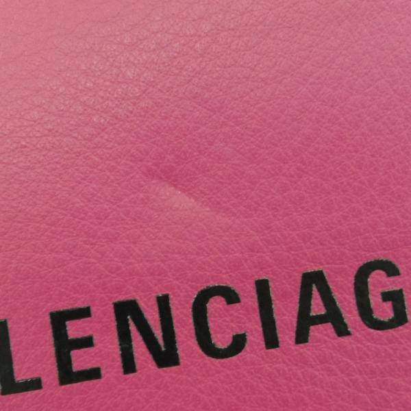 332546【新品】【BALENCIAGA】【バレンシアガ】エブリデイ チェーンショルダーバッグ レザー ピンク 537387