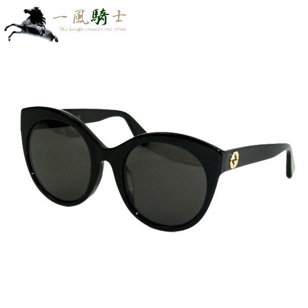 348237【中古】【GUCCI】【グッチ】サングラス プラスチック ブラック GG0028SA