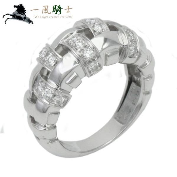 345582【中古】【TIFFANY&CO.】【ティファニー】ウォーブン リング K18WG×ダイヤモンド #9T&Co. 750 ホワイトゴールド 9号 指輪 ブランドジュエリー