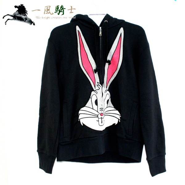 366230【中古】【GUCCI】【グッチ】GUCCY バックスバニー スウェット パーカー ブラック 519489 表記サイズ:XSgutti パーカー 黒 ウサギ