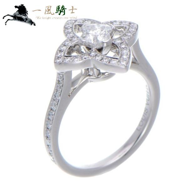 365306【中古】【LOUIS VUITTON】【ルイヴィトン】ソリテール アルダント リング Q9G22Z K18WG×ダイヤモンド #46LV 6号 750 ホワイトゴールド 指輪 アクセサリー ブランドジュエリー