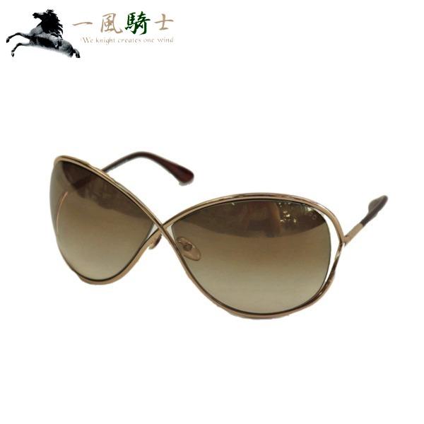 374243【中古】【TOM FORD】【トムフォード】サングラス プラスチック ブラウン ゴールド金具 TF130tomford 眼鏡 プレート メガネ ファッション小物