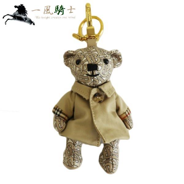 375763【中古】【BURBERRY】【バーバリー】バッグチャーム クマモチーフ モノグラム柄 ゴールド金具burberry 熊 チャーム キーホルダー キーリング