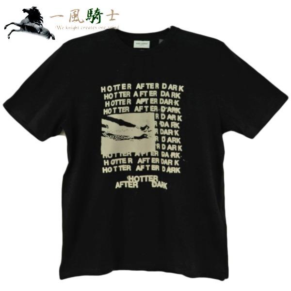 最前線の 380854【未使用】【SAINT LAURENT】【サンローラン】Tシャツ ロゴプリント コットン100% ブラック 590380 表記サイズ:XSサンローラン クルーネック 黒, エナジードラッグ ce6eef03