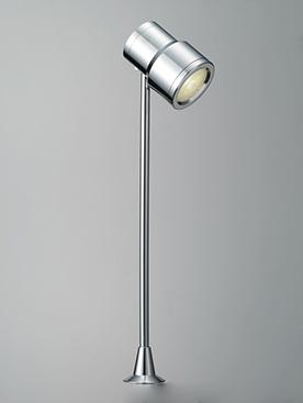 DNライティング D-EXGT62CB LEDショーケースライト 白色 本体:クローム 1/2ビーム角:26° DEXGT62CB