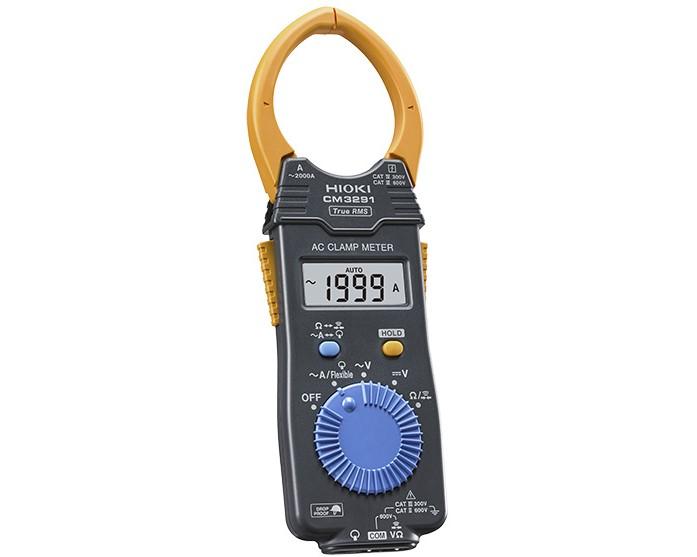 日置電機 CM3291 ACクランプメータ (HIOKI)〈付属品〉携帯用ケース ×1, テストリードL9208 ×1, コイン形リチウム電池CR2032 (本体内蔵, モニター用) ×1, 取扱説明書 ×1, 使用上の注意 ×1