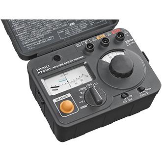 日置電機 FT3151 アースハイテスタ <付属品> 補助接地棒L9840(2本セット) 測定コードL9841(黒ワニ口4m)L9842-11(黄10m、巻取器付)L9842-22(赤20m、巻取器付) 携帯用ケースC0106、取扱説明書、電池(LR6×6) (HIOKI)