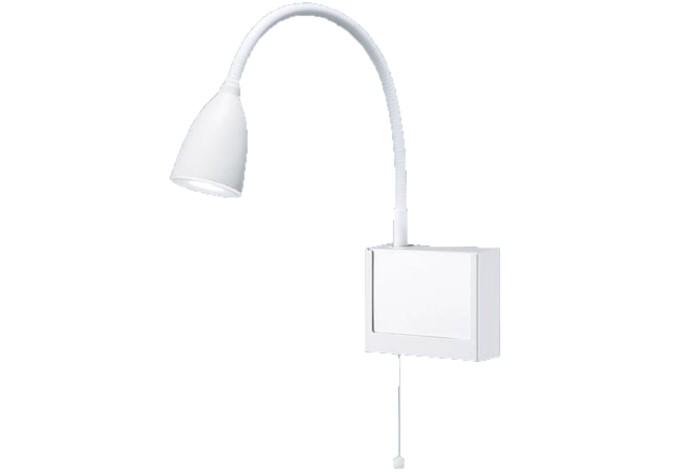パナソニック NNF23107JLE1 病院用・高齢者福祉施設用 壁直付型 LED(昼白色) ショートアーム式ベッドライト 読書用・プルスイッチ付