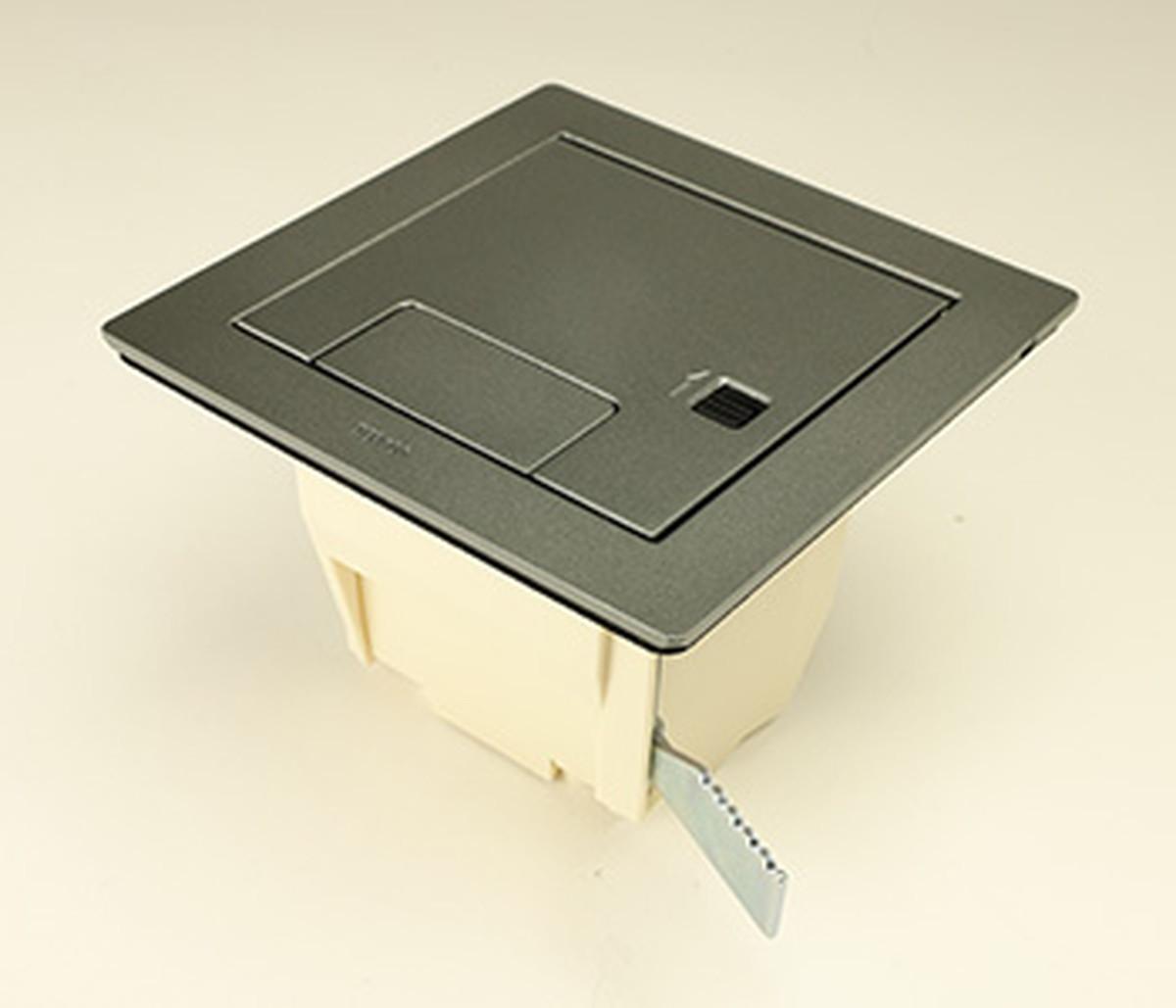 寺田電機 CEA71000K ボックス+カギ付きプレート(シルバーメタリック)