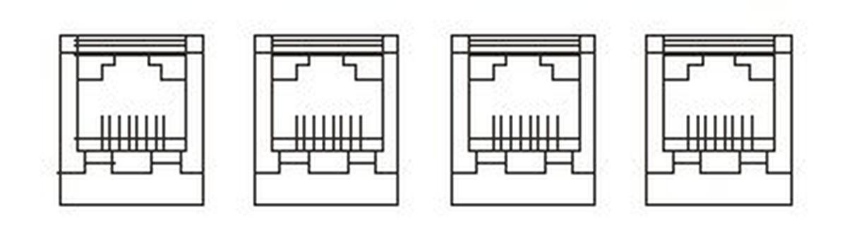 【受注品】寺田電機 SRR90088  器具ブロック(CAT6モジュラジャック×4)