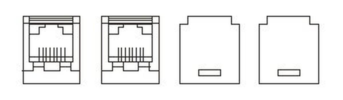 【受注品】寺田電機 SSS90086  器具ブロック(CAT6モジュラジャック×2)