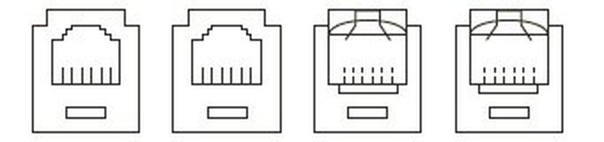【受注品】寺田電機 TSM00044 TMK・TSK共通 CAT5Eモジュラジャック×2 / 6極6芯モジュラジャック×2