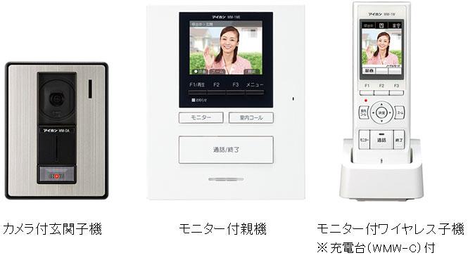 アイホン WM-14A テレビドアホンワイヤレスセット ROCOポータブル【WM14A】