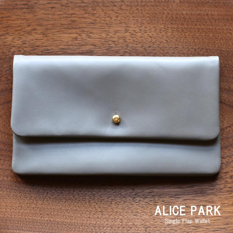 ALICE PARK アリスパーク Single Flap Wallet / 長財布シングルフラップウォレット グレー 送料無料