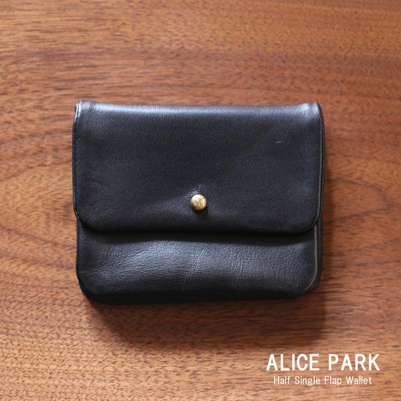 ALICE Flap PARK Black アリスパーク Half Single ALICE Flap Wallet Black/ 二つ折り財布ハーフシングルフラップウォレット ブラック 送料無料, トヨサカチョウ:f536dca2 --- ferraridentalclinic.com.lb