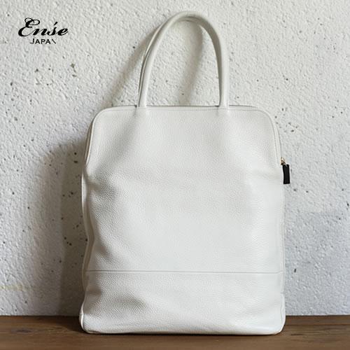 Ense(アンサ)tote M whiteステアレザー トートバッグ Mサイズ ホワイト an-302【送料無料】