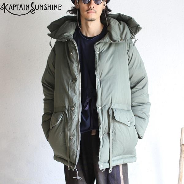 【Kaptain Sunshine】 Expedition Down Jacket SMOKY GREEN エクスペディションダウンジャケット スモーキーグリーンキャプテンサンシャイン 日本製【送料無料】KS9FJK02