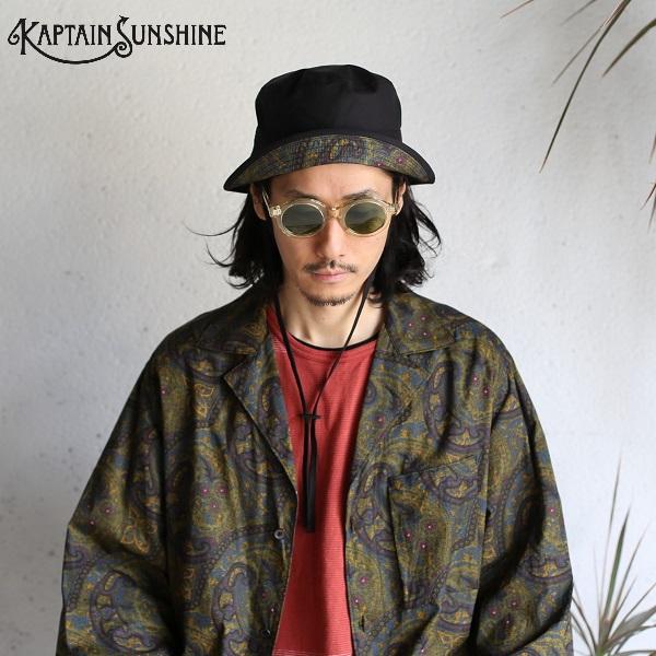 Kaptain Sunshine】 Reversivle Bush Hat BLACK × DARK PAISLEY リバーシブルブッシュハット ブラック × ダークペイズリー2020SS キャプテンサンシャイン KS20SGD01