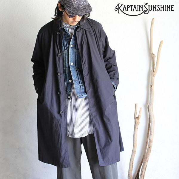 【Kaptain Sunshine】 Traveller Coat GARMENT DYED WATER REPELLENT NYLON BLACK トラベラーコート 製品染め 撥水加工 ブラックキャプテンサンシャイン 日本製【送料無料】KS20SCO02