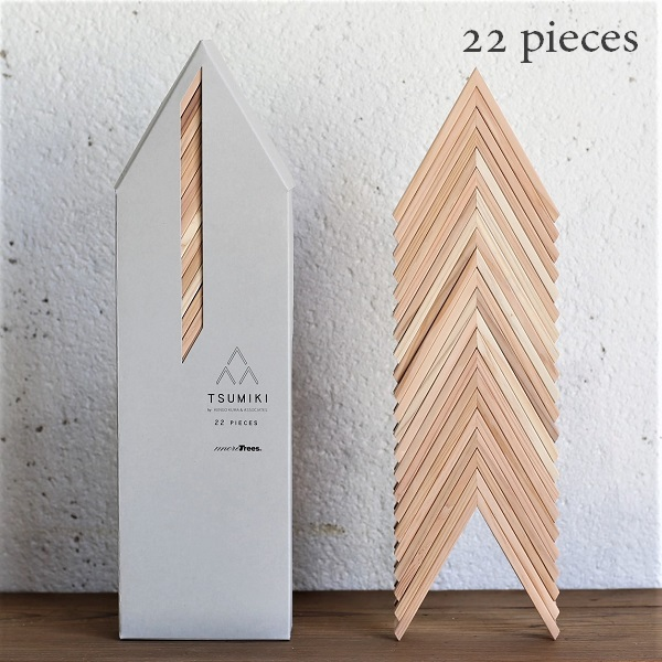more trees(モア・トゥリーズ)TSUMIKI 22PIECES つみき22ピース建築家 隈研吾 デザイン KENGO KUMA & ASSOCIATES 坂本龍一
