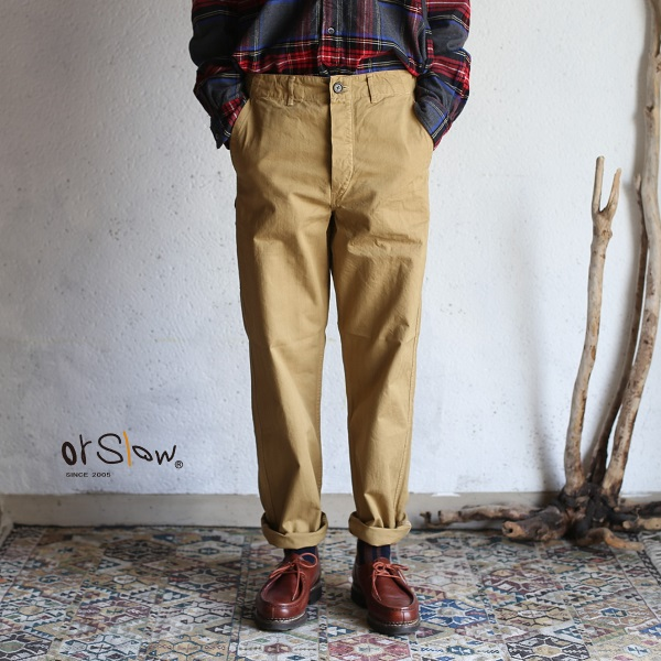 【orslow】 FRENCH WORK PANTS khaki(beige) オアスロウ フレンチワークパンツ カーキ(ベージュ) 【送料無料】