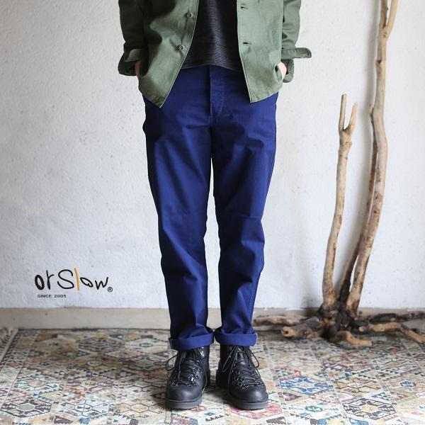 【orslow】 FRENCH WORK PANTS ink blue オアスロウ フレンチワークパンツインクブルー【送料無料】