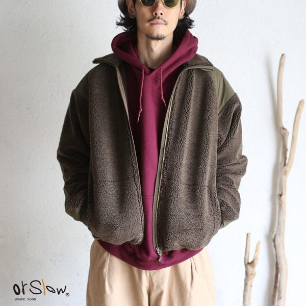 【orslow】FLEECE JACKET Brown フリースジャケット ブラウンオアスロウ 日本製【送料無料】メーカー希望小売価格 32,780円 (税込)