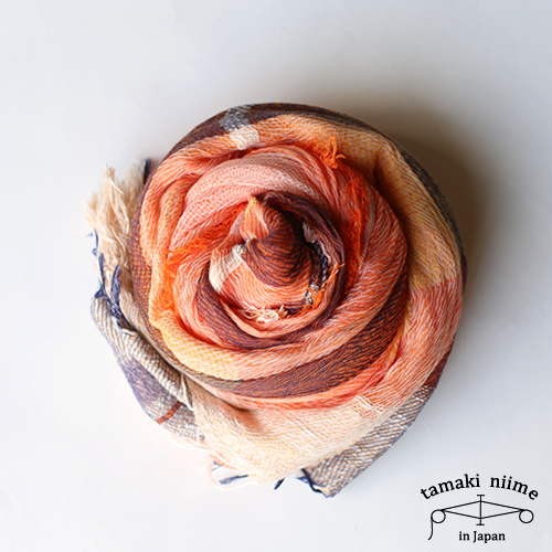 tamaki niime 玉木新雌 basic shawl cotton big 07/ ベーシックショール コットン ビッグ 07 【送料無料】【tamakiniime】