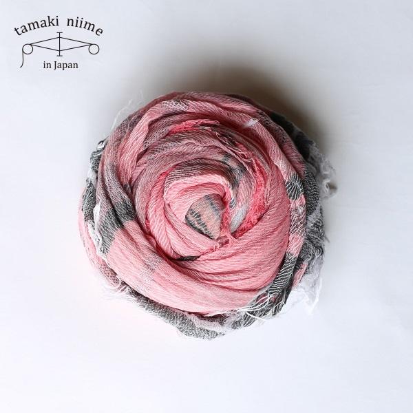 tamaki niime 玉木新雌 roots shawl cotton big 20ss rsb07/ ルーツショール コットン 100% ビッグ【送料無料】