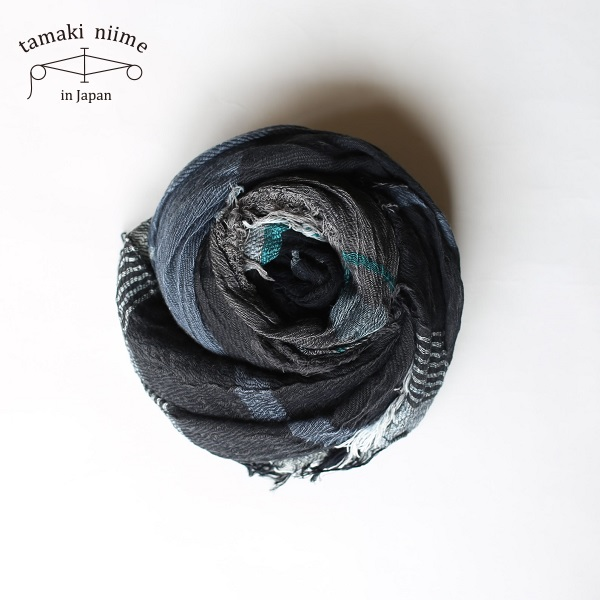 tamaki niime 玉木新雌 roots shawl cotton big 20ss rsb10/ ルーツショール コットン 100% ビッグ【送料無料】