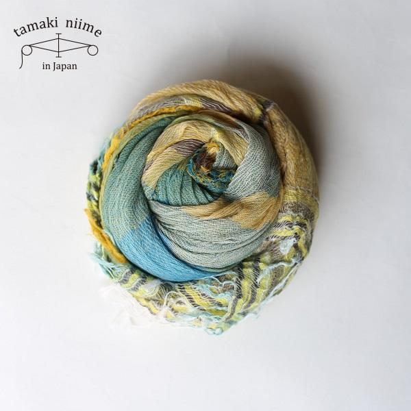 tamaki niime 玉木新雌 roots shawl cotton big 20ss rsb13/ ルーツショール コットン 100% ビッグ【送料無料】