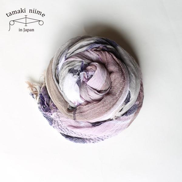 tamaki niime 玉木新雌 roots shawl cotton big 20ss rsb16/ ルーツショール コットン 100% ビッグ【送料無料】
