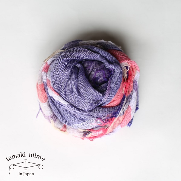 tamaki niime 玉木新雌 roots shawl cotton big 25/ ルーツショール コットン 100% ビッグ【送料無料】tamakiniime