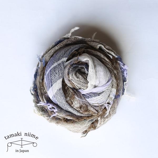 【2019SS企画展作品】tamaki niime 玉木新雌 roots shawl cotton big RSB_C01_19SS/ ルーツショール コットン 100% ビッグ【送料無料】tamakiniime