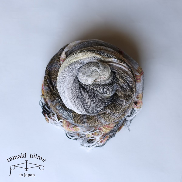 【2019SS企画展作品】tamaki niime 玉木新雌 roots shawl cotton big RSB_C15_19SS/ ルーツショール コットン 100% ビッグ【送料無料】tamakiniime