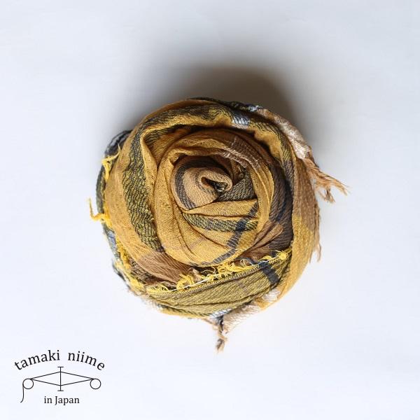【2019SS企画展作品】tamaki niime 玉木新雌 roots shawl cotton big RSB_C20_19SS/ ルーツショール コットン 100% ビッグ【送料無料】tamakiniime