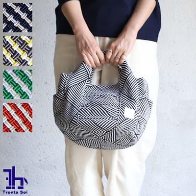 Trenta Sei(トレンタセイ)編みこみ サイドポケット付き リバーシブル トートバッグ Sサイズ 全4色 10197-B