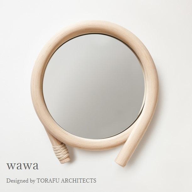 TORAFU ARCHITECTS wawa maki made in japan トラフ建築設計事務所 ウォールミラー 鏡 籐製フレーム グッドデザイン賞 ツルヤ商店 メトロクス 2016 GOOD DESIGN