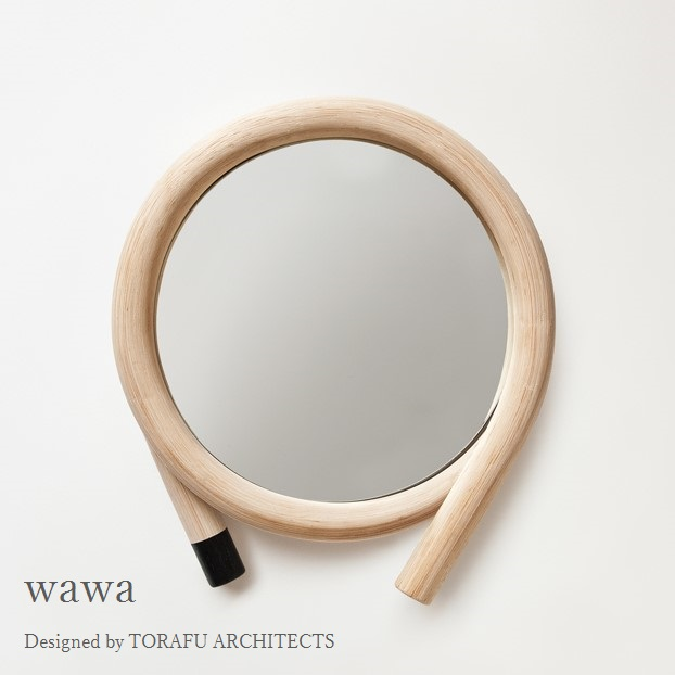 TORAFU ARCHITECTS wawa black made in japan トラフ建築設計事務所 ウォールミラー 鏡 籐製フレーム ブラック グッドデザイン賞 ツルヤ商店 メトロクス 2016 GOOD DESIGN